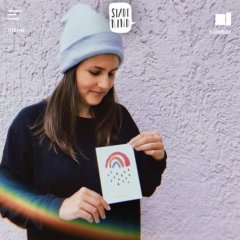 Stadtkind Artikel Kleiner Regenbogen Good Vibes in Stickerform