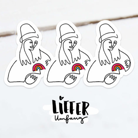 Pape Sticker Kleiner Regenbogen Lieferumfang