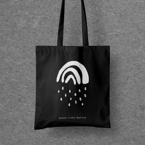 Spendenbeutel Kleiner Regenbogen Black Lives Matter