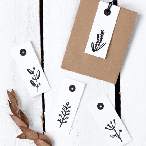 Geschenkanhänger Pflanzen Luxe Detail Kleine Papeterie
