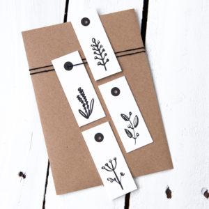 Geschenkanhänger Pflanzen Luxe Kleine Papeterie