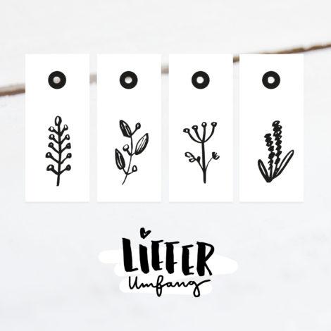 Geschenkanhänger Pflanzen Luxe Lieferumfang Kleine Papeterie