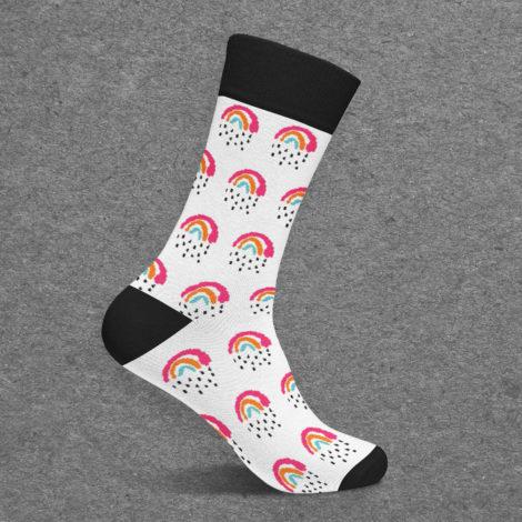 Kleine Regenbogen Socke Kleine Papeterie