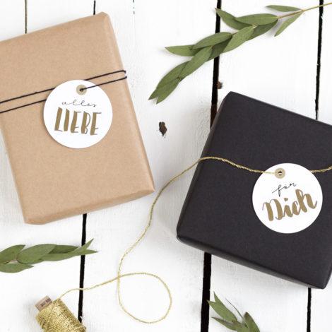 Geschenkanhänger gold Kleine Papeterie