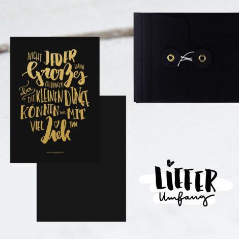 """Edle Karte """"Die kleinen Dinge"""" Lieferumfang Kleine Papeterie"""