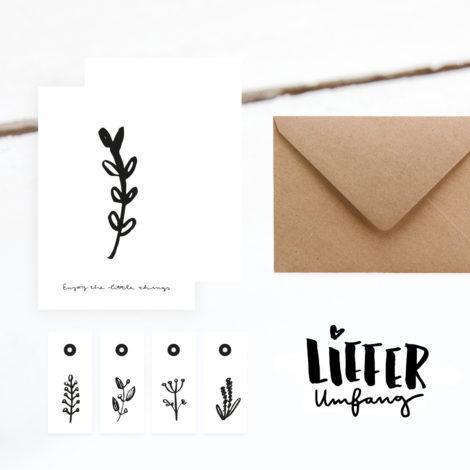 """Set Karte und Geschenkanhänger """"Little things"""" Lieferumfang Kleine Papeterie"""
