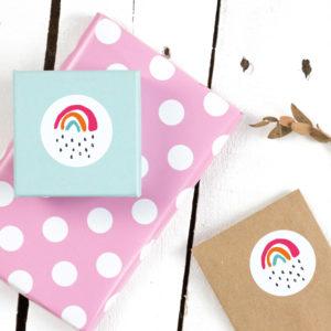 Sticker Kleiner Regenbogen Kleine Papeterie