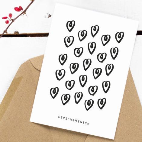 Postkarte Herzensmensch Kleine Papeterie