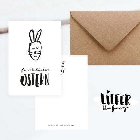 """Postkarte """"Fröhliche Ostern"""" Lieferumfang Kleine Papeterie"""