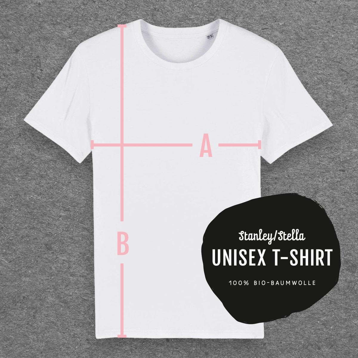 Maße Unisex T-Shirt von Stanley Stella