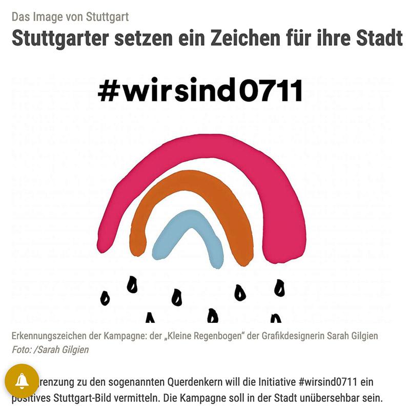 Stuttgarter Zeitung Artikel Initiative #wirsind0711 setzt ein Zeichen