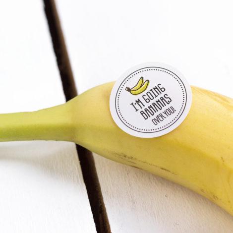 Obststicker I'm going bananas Kleine Papeterie