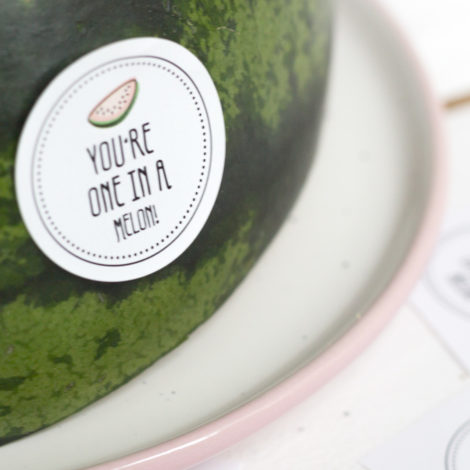 Obststicker You're one in a melon Detail Kleine Papeterie