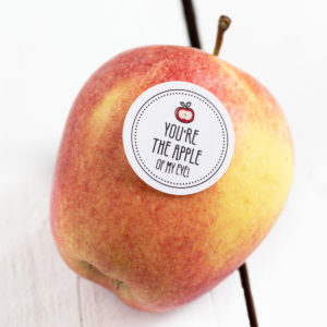 Obststicker You're the apple of my eye Kleine Papeterie