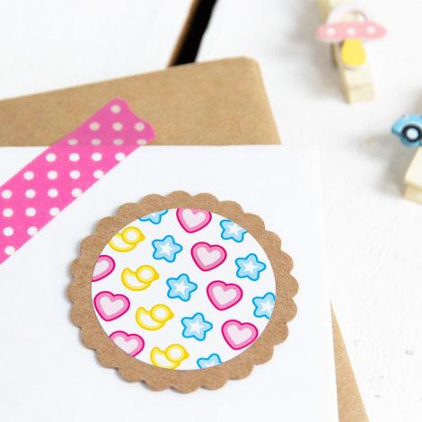 Sticker Happy Baby Detail Kleine Papeterier