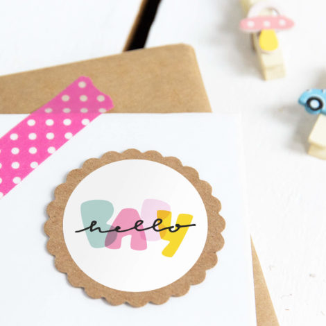 Hello Baby Sticker Detail Kleine Papeterie