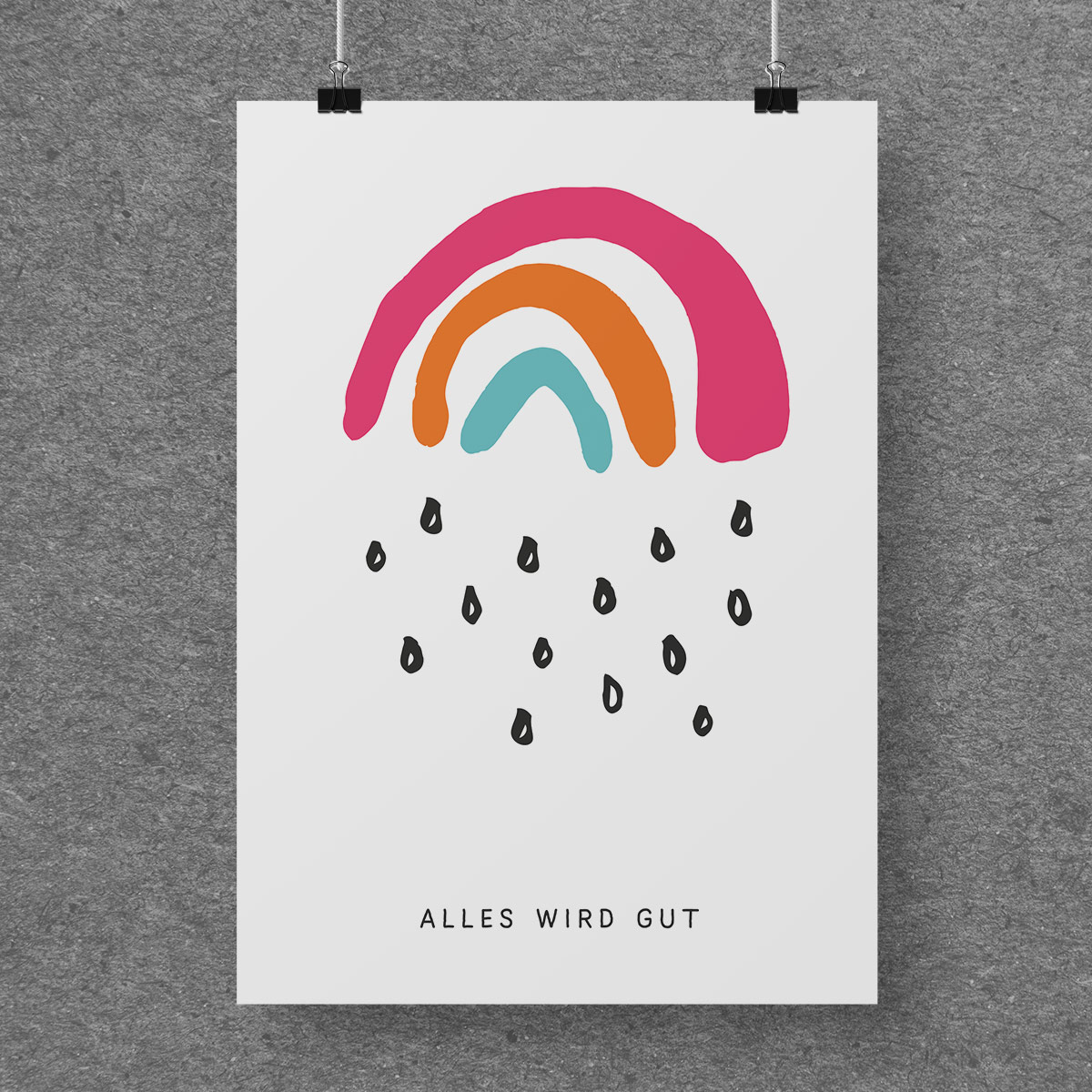 Poster Kleiner Regenbogen